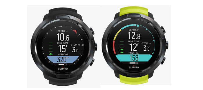 Suunto D5 All Black búvárkomputer